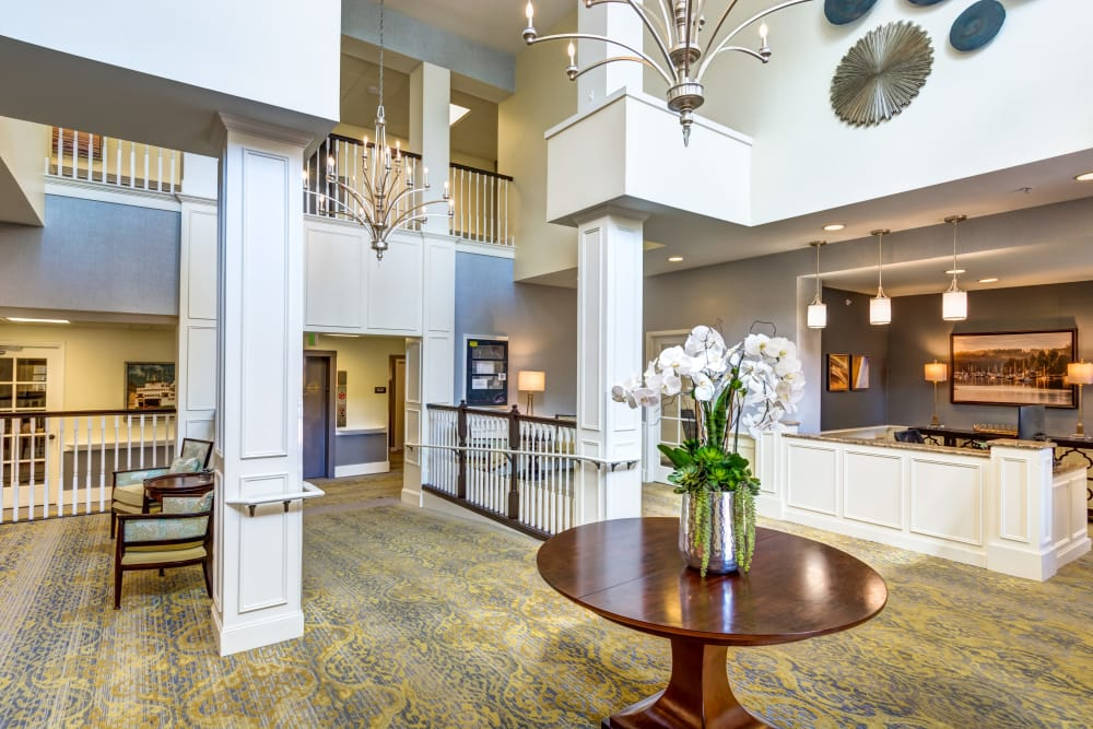 Lobby at Queen Anne Manor Senior Living