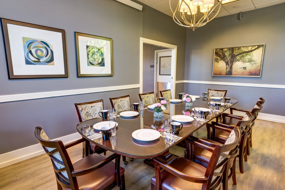 Private Dining Room at Queen Anne Manor Senior Living