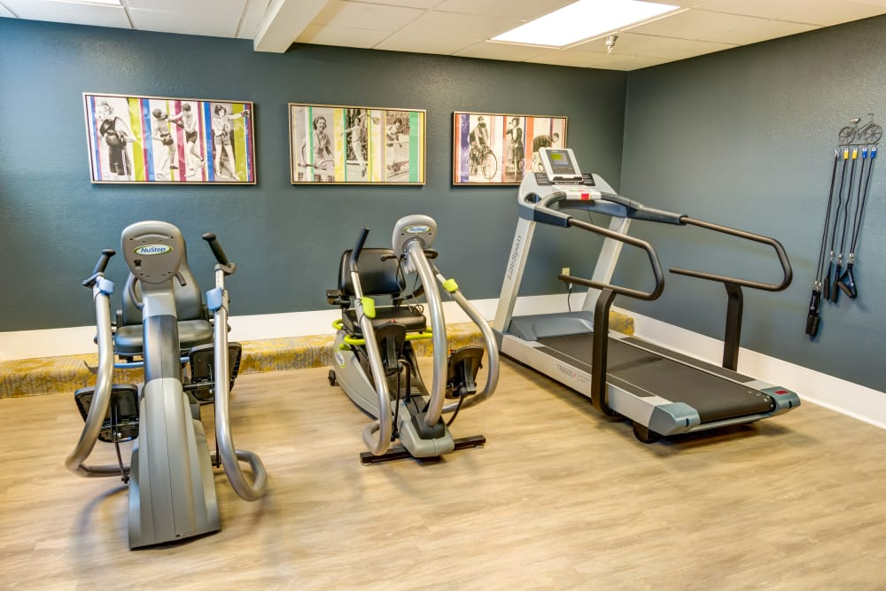 Fitness room at Queen Anne Manor Senior Living