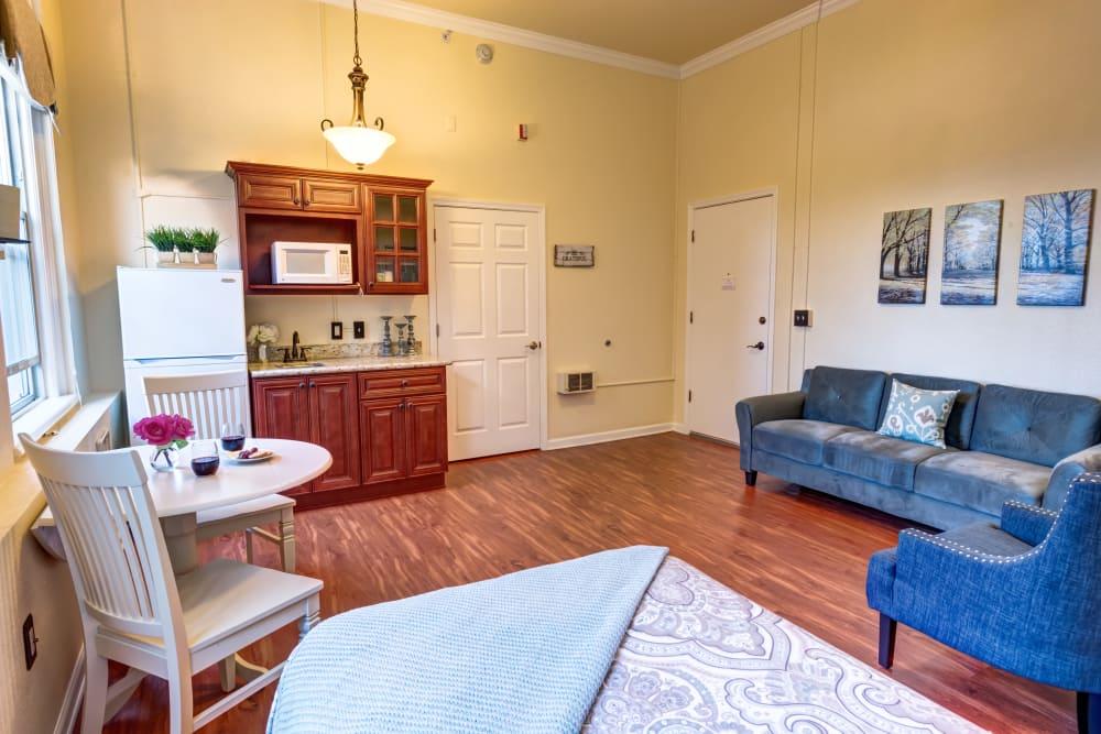 Private apartment at Queen Anne Manor Senior Living