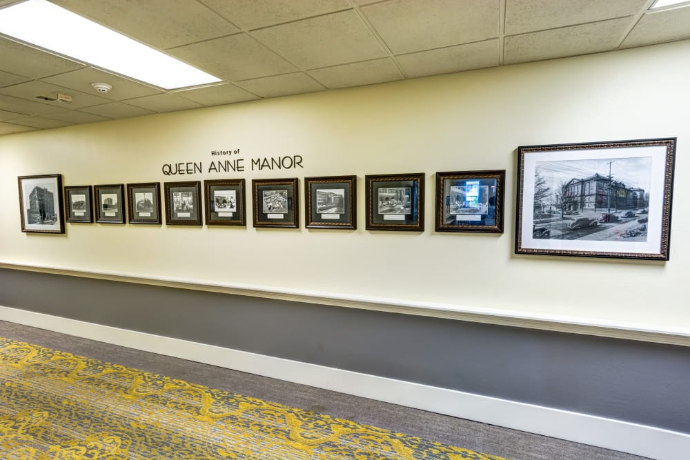Wall of Honor at Queen Anne Manor Senior Living