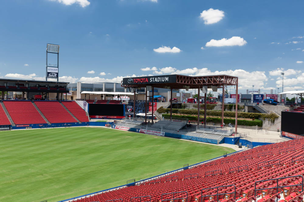 Sports field near Alta Frisco Square in Frisco, Texas