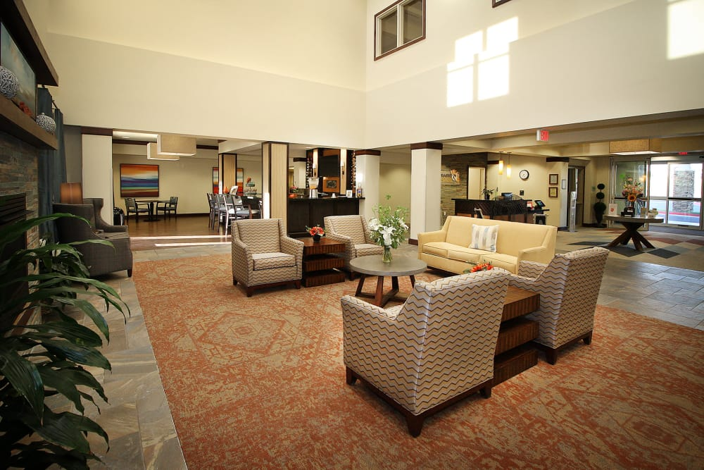 Common room at Prairie House Assisted Living and Memory Care in Broken Arrow, Oklahoma