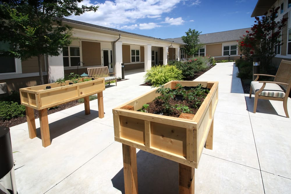Vegetable garden at Prairie House Assisted Living and Memory Care in Broken Arrow, Oklahoma