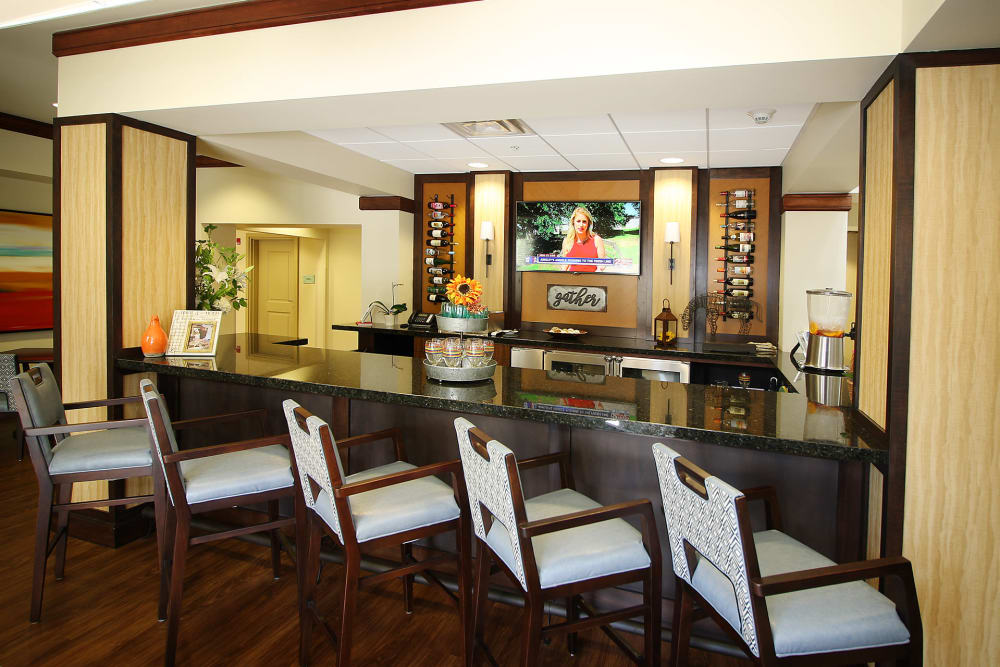 On-site pub at Prairie House Assisted Living and Memory Care in Broken Arrow, Oklahoma