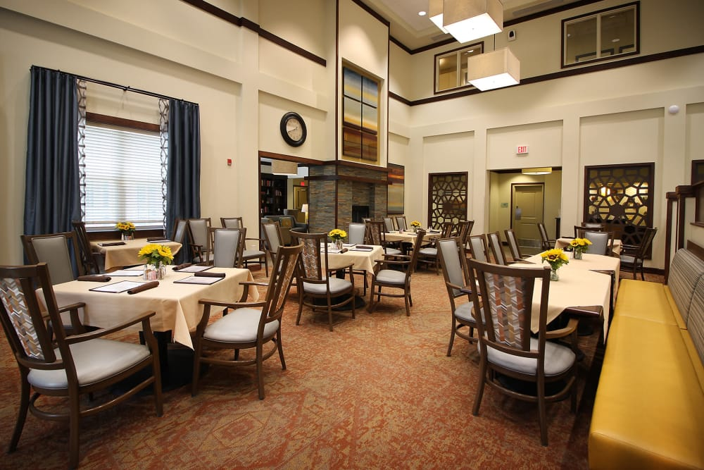 Dining area at Prairie House Assisted Living and Memory Care in Broken Arrow, Oklahoma