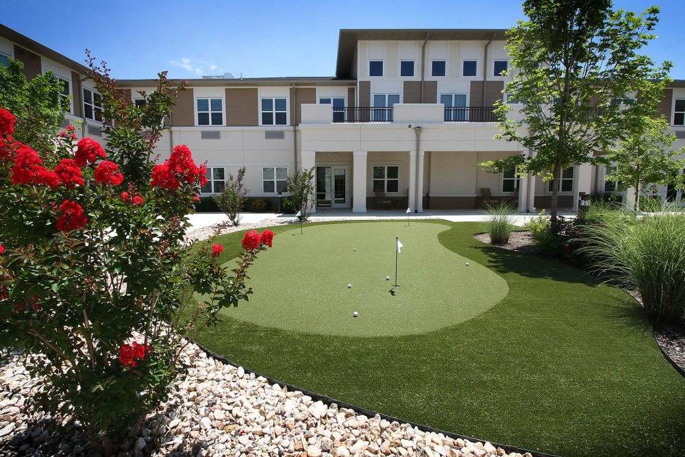 Golf course at Prairie House Assisted Living and Memory Care in Broken Arrow, Oklahoma