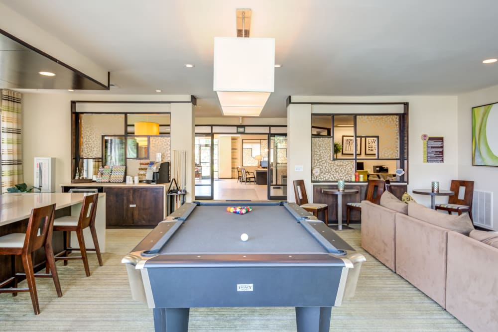 Luxury clubhouse at West End at City Center in Lenexa, Kansas