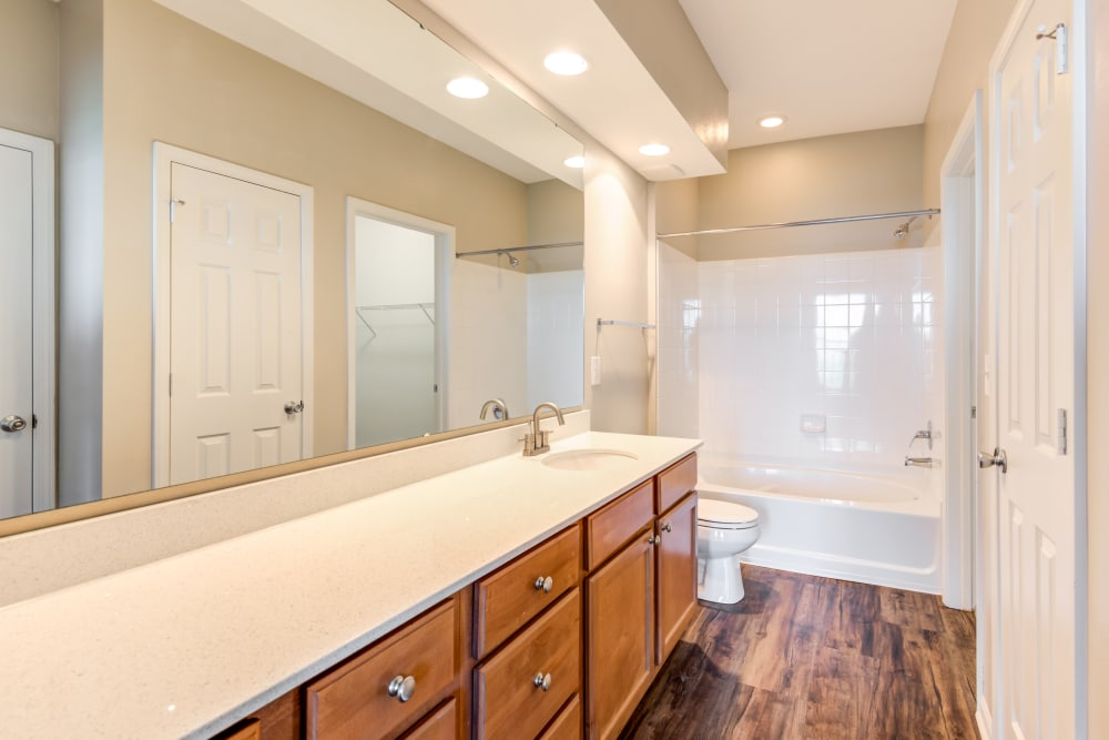Luxury bathroom at West End at City Center in Lenexa, Kansas
