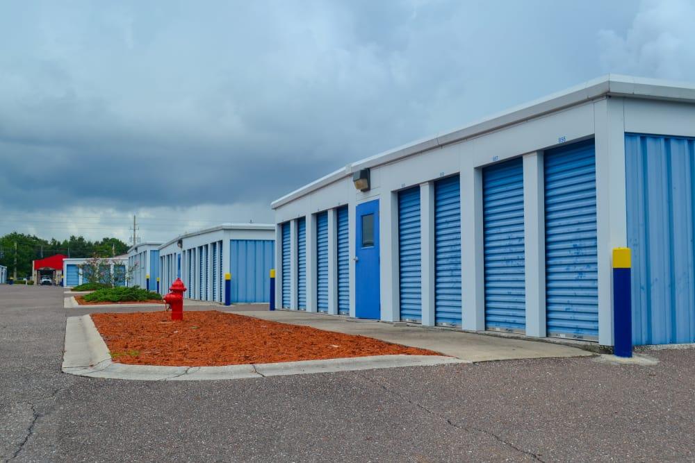 exterior storage doors at Atlantic Self Storage