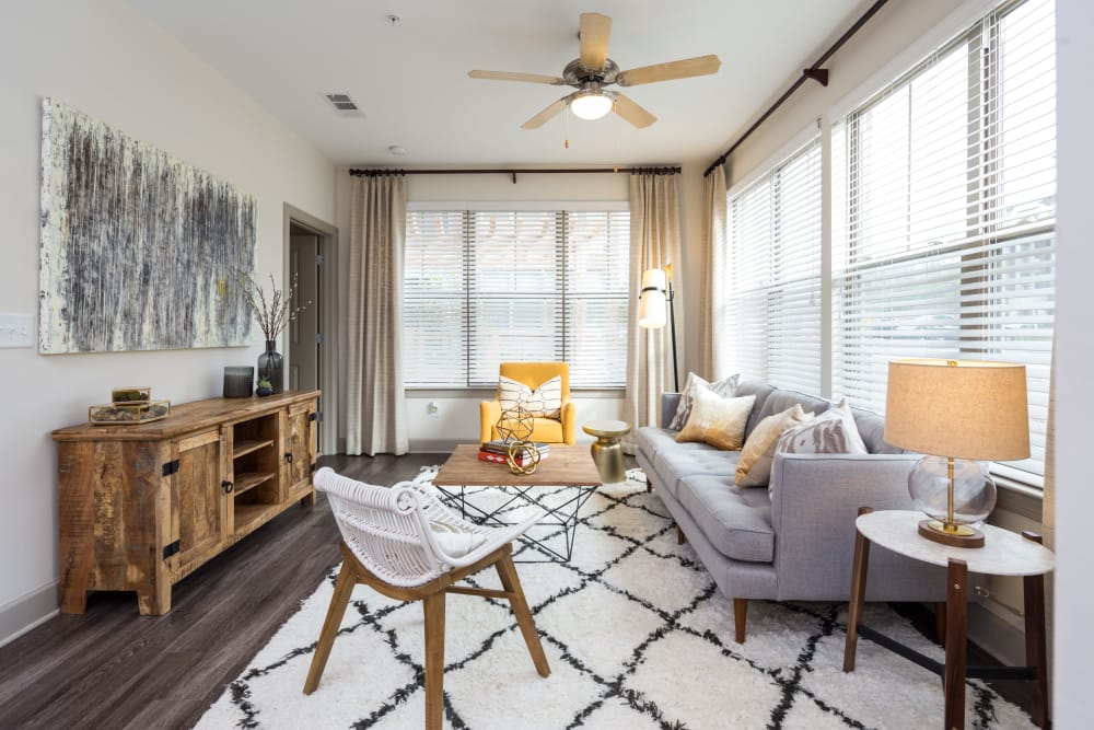 One Metrocenter offers a spacious living room in Nashville, Tennessee