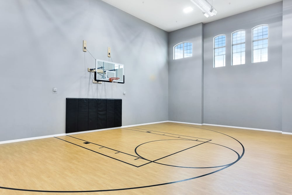 Basketball court at Villas at the Rim in San Antonio, Texas