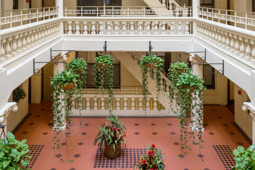 Atrium at Burbank Apartments in Boston, Massachusetts