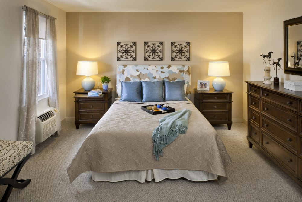 Master bedroom at The Fairways in Worcester, Massachusetts