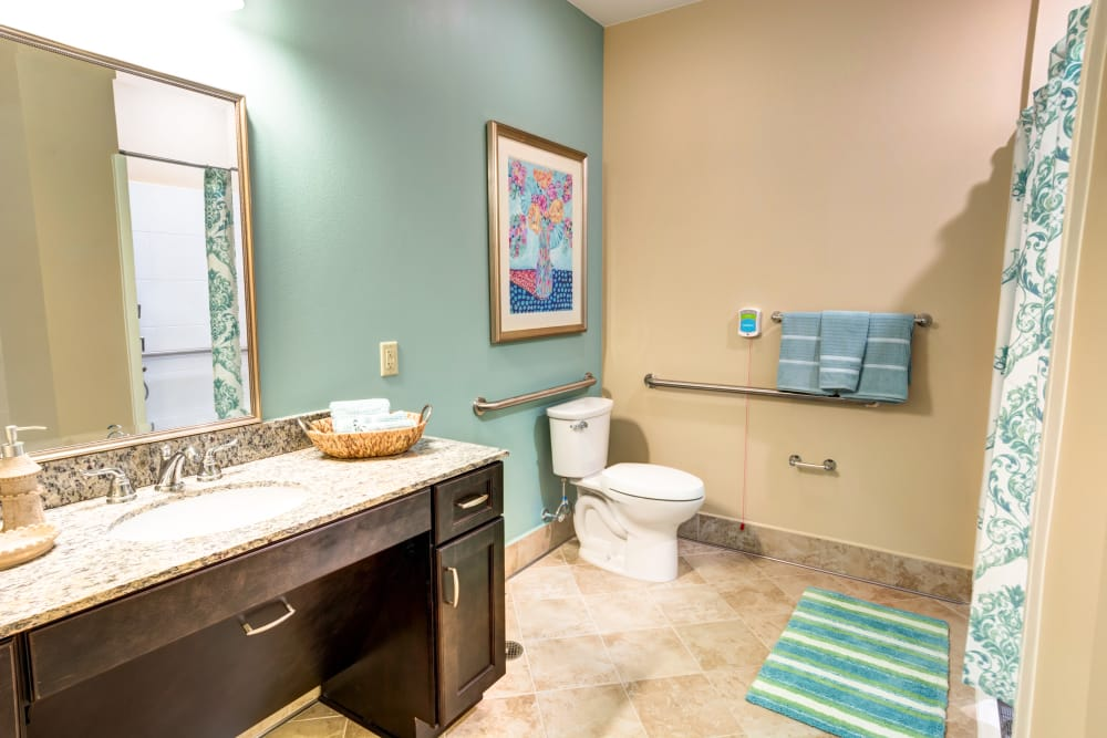 Private bath at Symphony at Delray Beach
