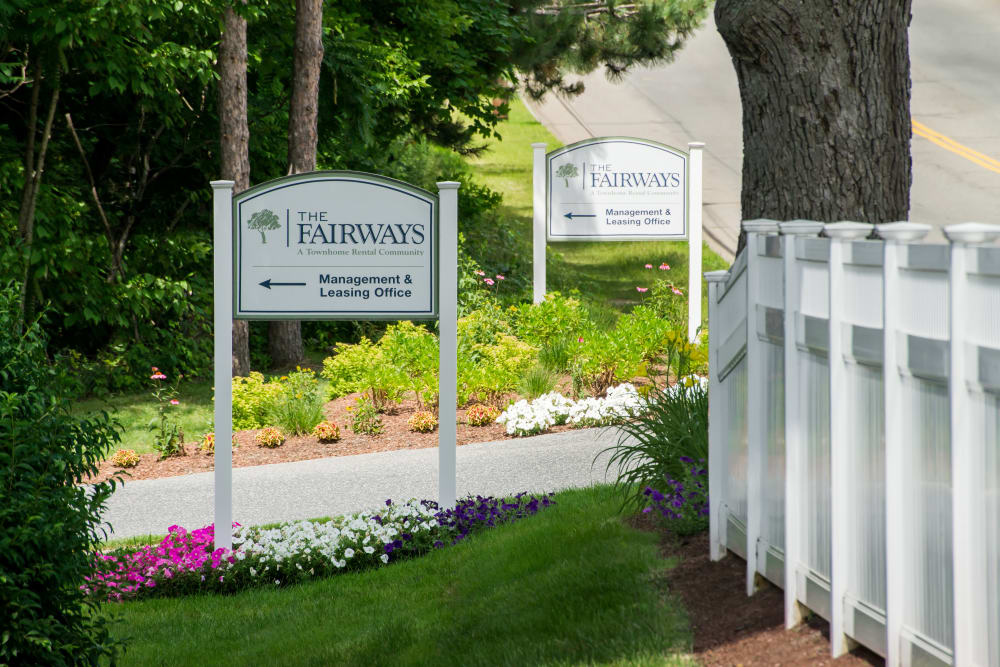 Leasing office at The Fairways in Worcester, Massachusetts