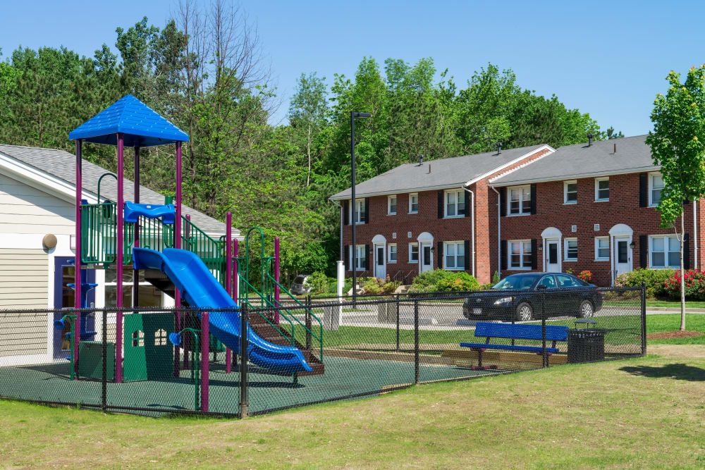 Our beautiful apartments in Worcester, Massachusetts showcase a playground
