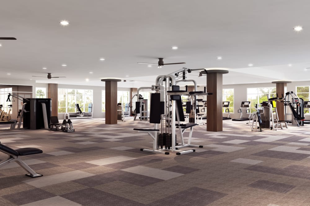 The District at Scottsdale in Scottsdale, Arizona offers an on-site gym for residents