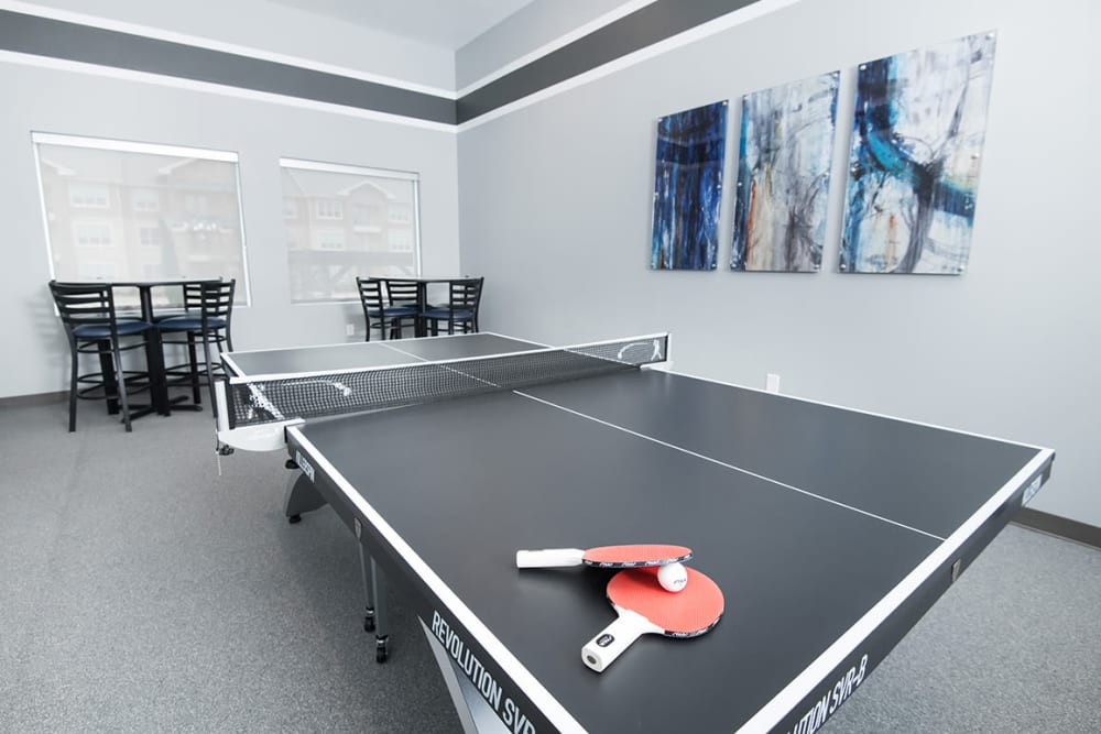 Pin pong table at Estates of Richardson in Richardson, Texas