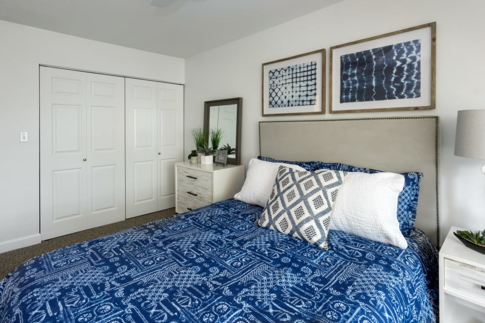 Master bedroom at President Village in Fall River, Massachusetts