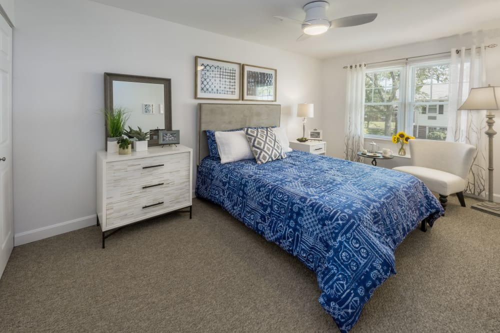 Bedroom model at President Village in Fall River, Massachusetts