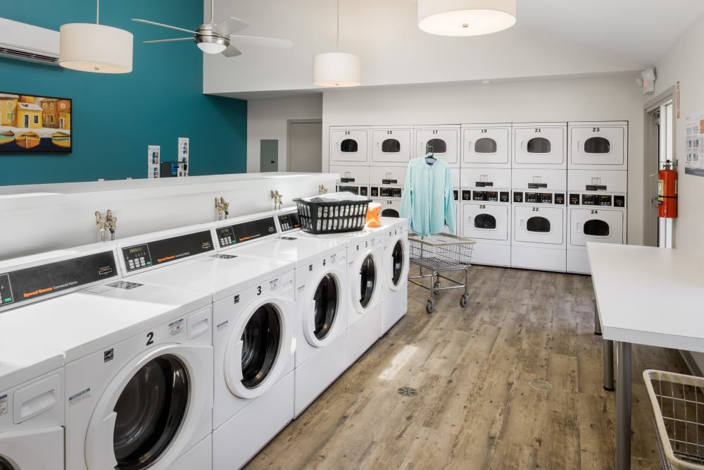 Laundry facility at President Village in Fall River, Massachusetts