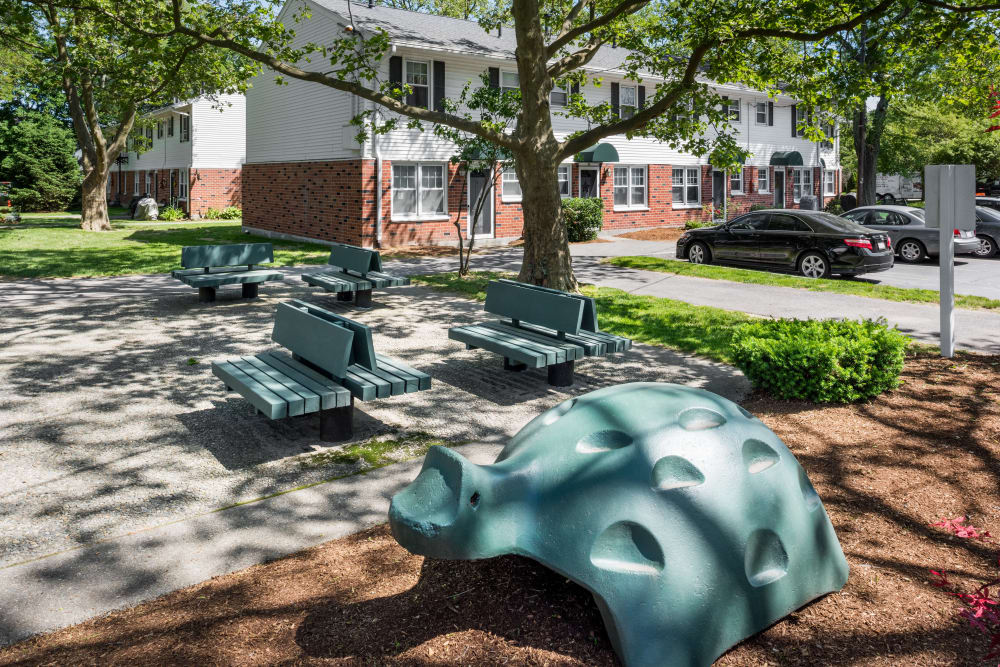 Playground area at President Village in Fall River, Massachusetts
