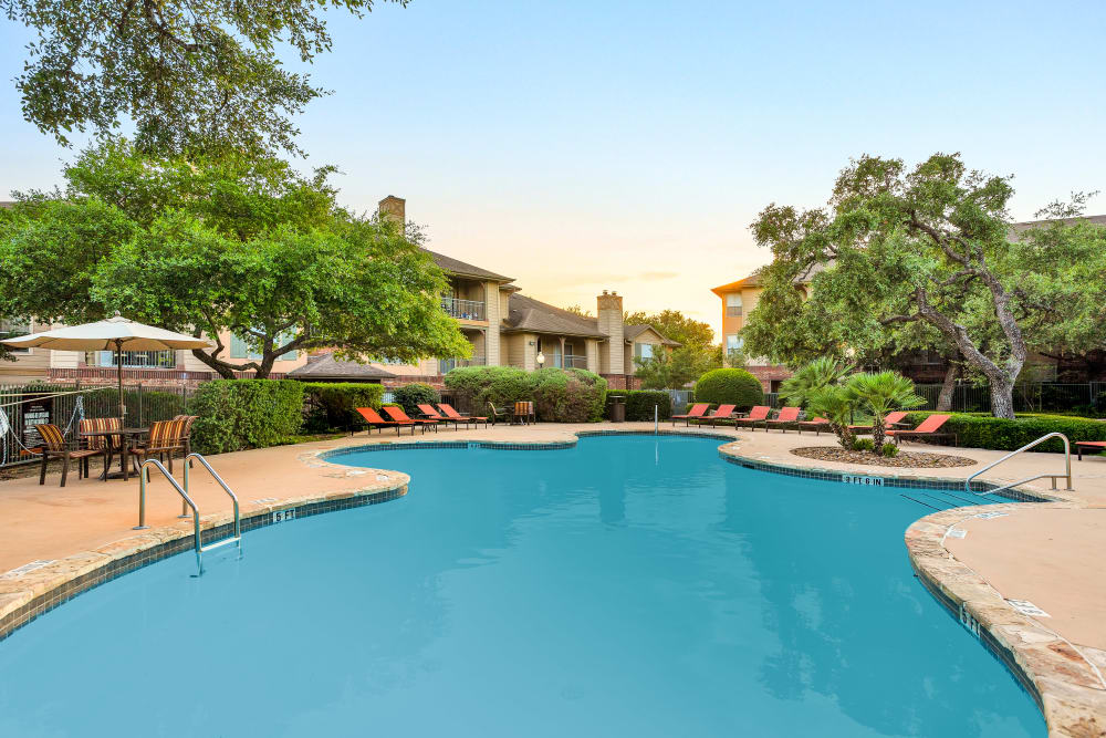 Swimming pool at The Estates of Northwoods in San Antonio, Texas