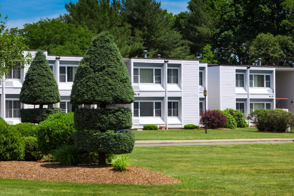 Apartments building at Taunton Gardens in Taunton, Massachusetts