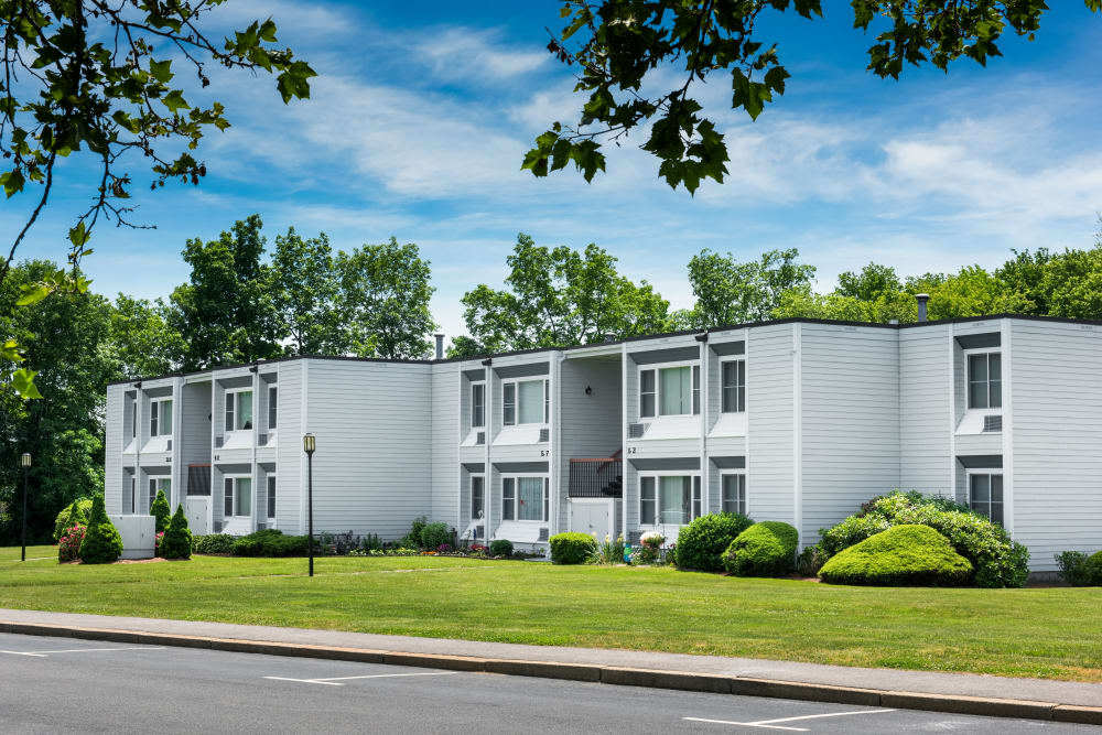 Front view at apartments at Taunton Gardens in Taunton, Massachusetts