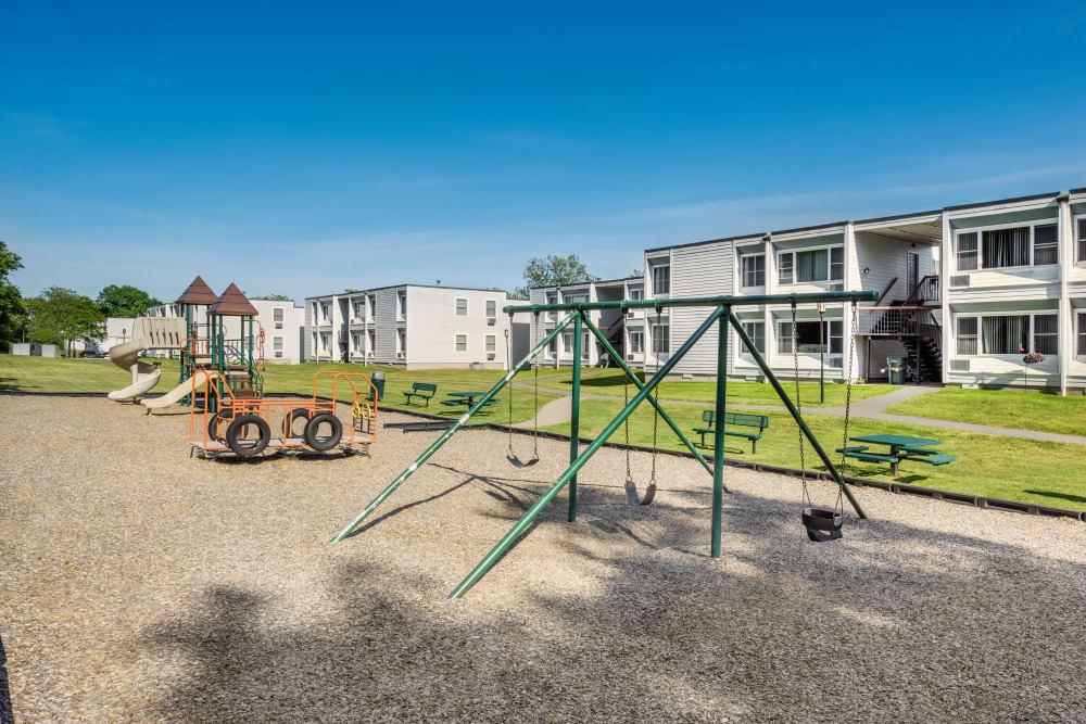 Taunton Gardens offers a playground in Taunton, Massachusetts