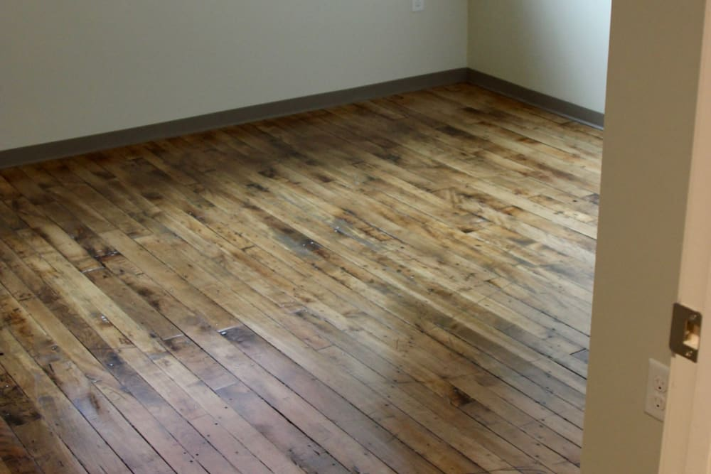 New renovated floor at Duck Mill Apartments in Lawrence, Massachusetts