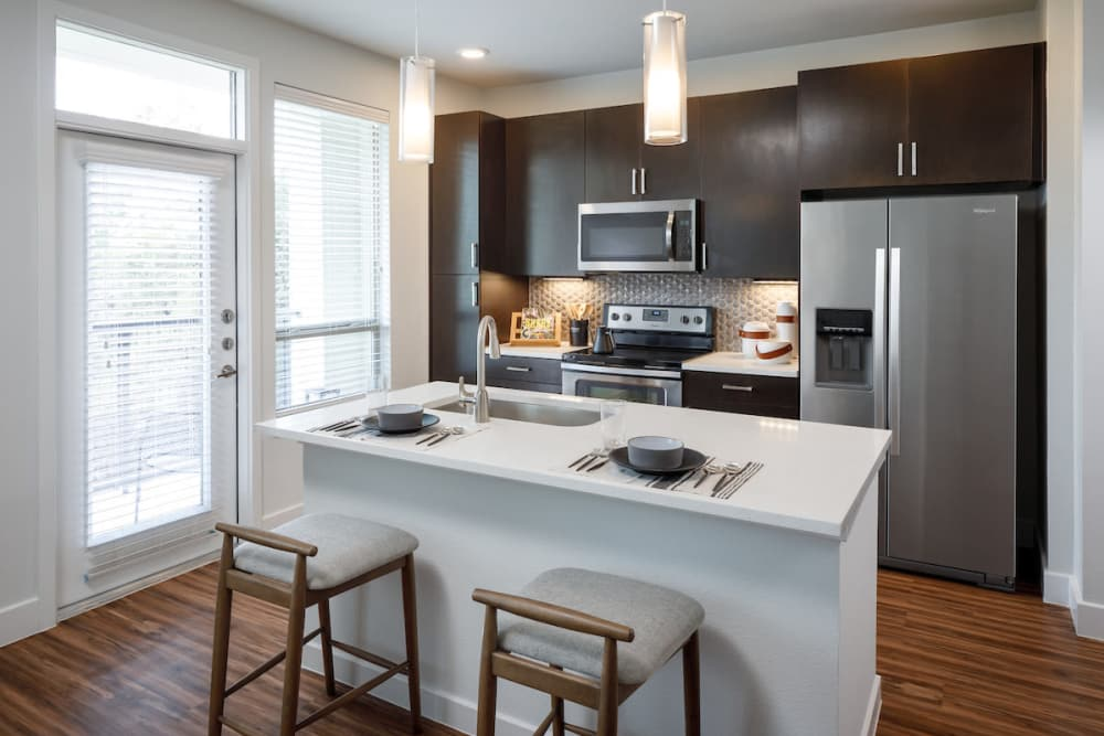 State-of-the-art kitchen at Ascent Cresta Bella in San Antonio, Texas