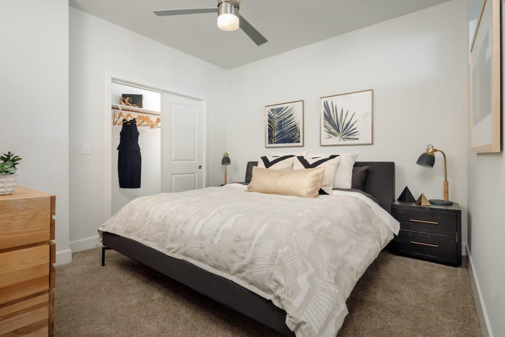 Model bedroom at Ascent Cresta Bella in San Antonio, Texas