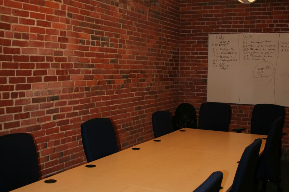Conference room at Union Crossing in Lawrence, Massachusetts