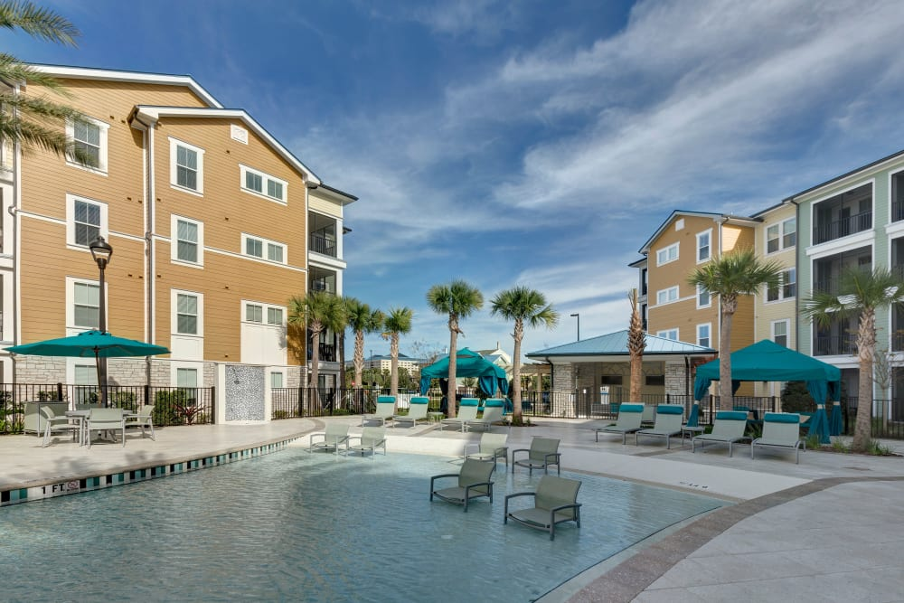 Backside view at Integra Sunrise Parc Apartments in Kissimmee, Florida