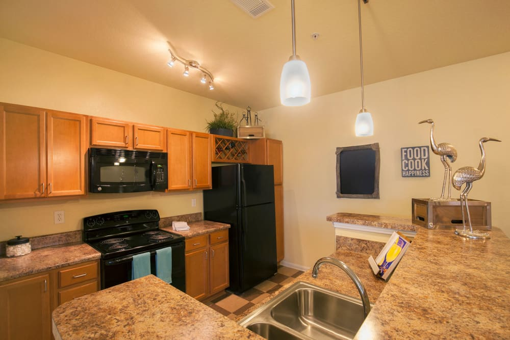 Kitchen at Panther Effingham Parc Apartments in Rincon, GA