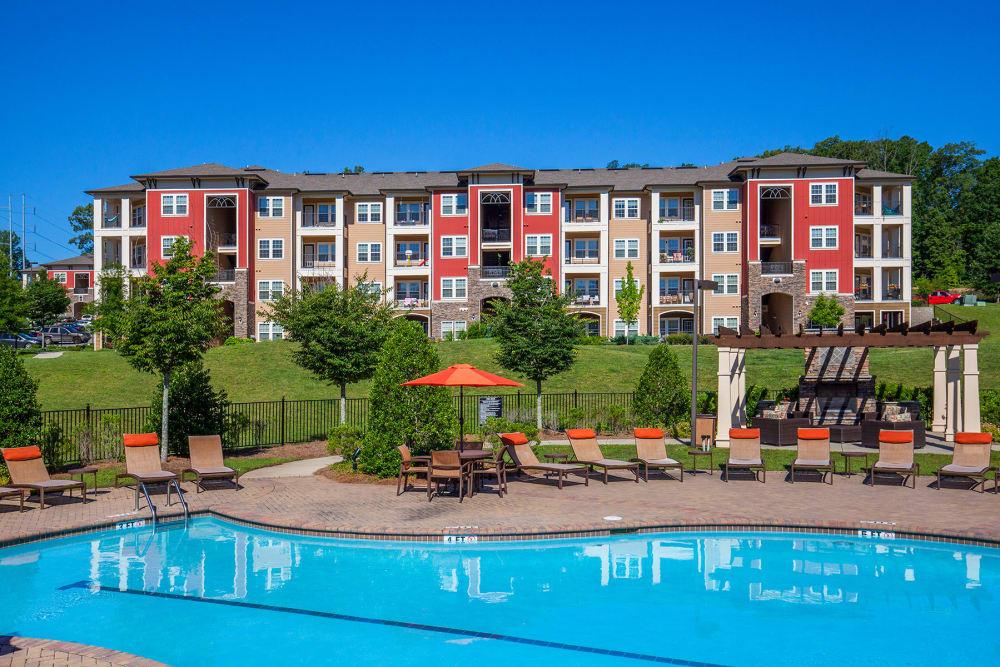 Swimming pool at Integra Hills Apartment Homes in Ooltewah, TN
