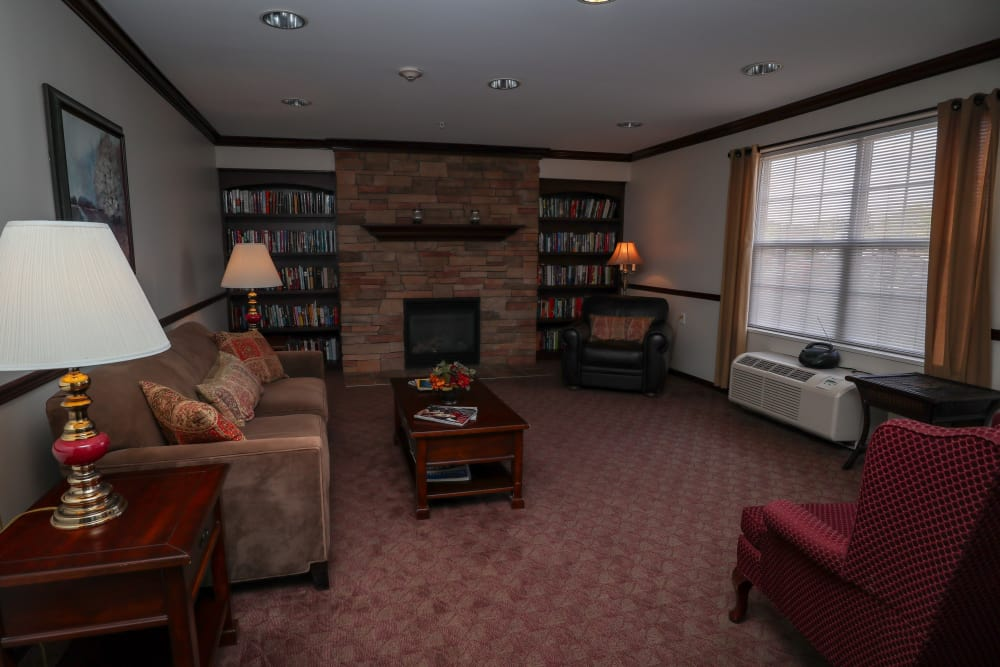 Spacious living room at Turtle Creek Apartments in Getzville, New York