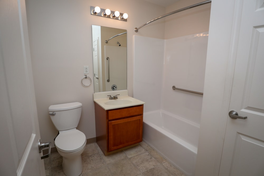 Our cozy Turtle Creek Apartments in Getzville, New York showcase a bathroom