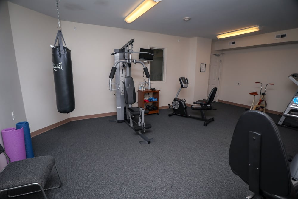 Luxury fitness center at Turtle Creek Apartments in Getzville, New York