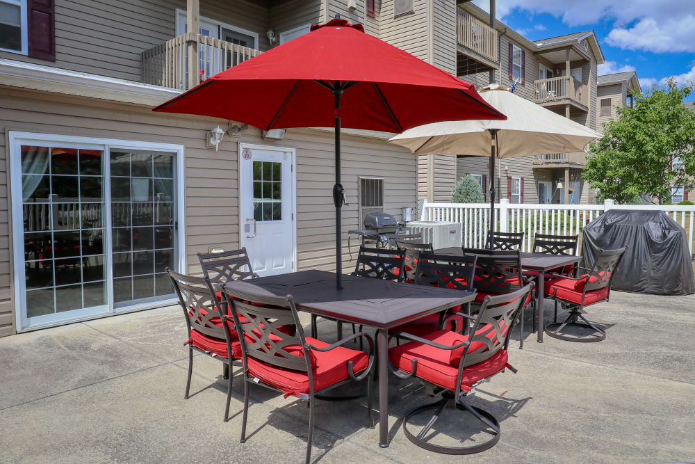 Turtle Creek Apartments offers a unique private patio with grills in Getzville, New York