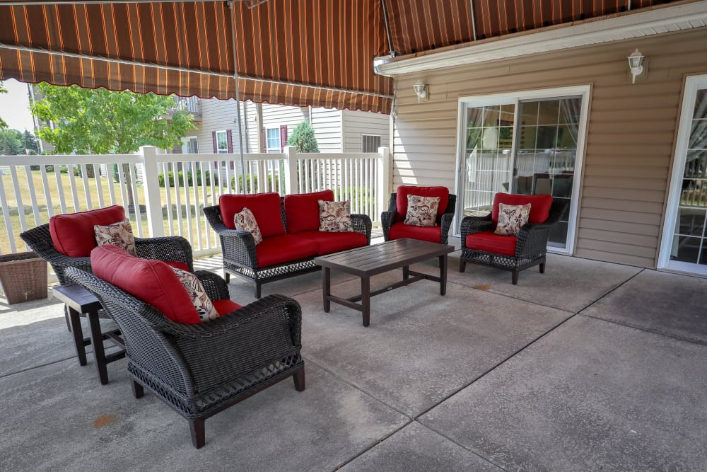 Turtle Creek Apartments offers a unique community patio in Getzville, New York