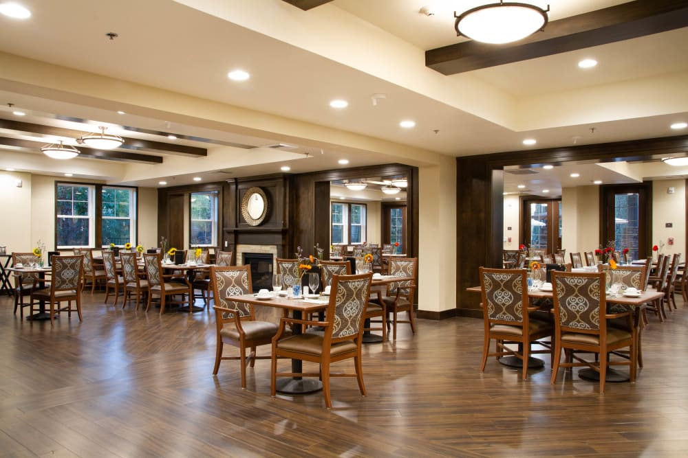 Dinning room at The Terraces in Chico, California