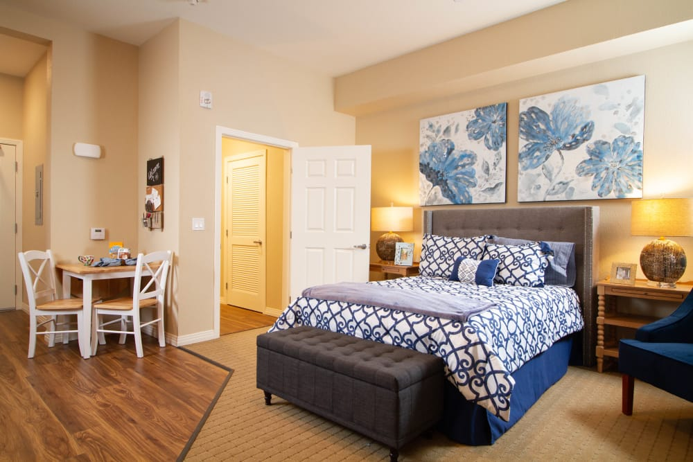 Spacious bedroom at The Terraces in Chico, California