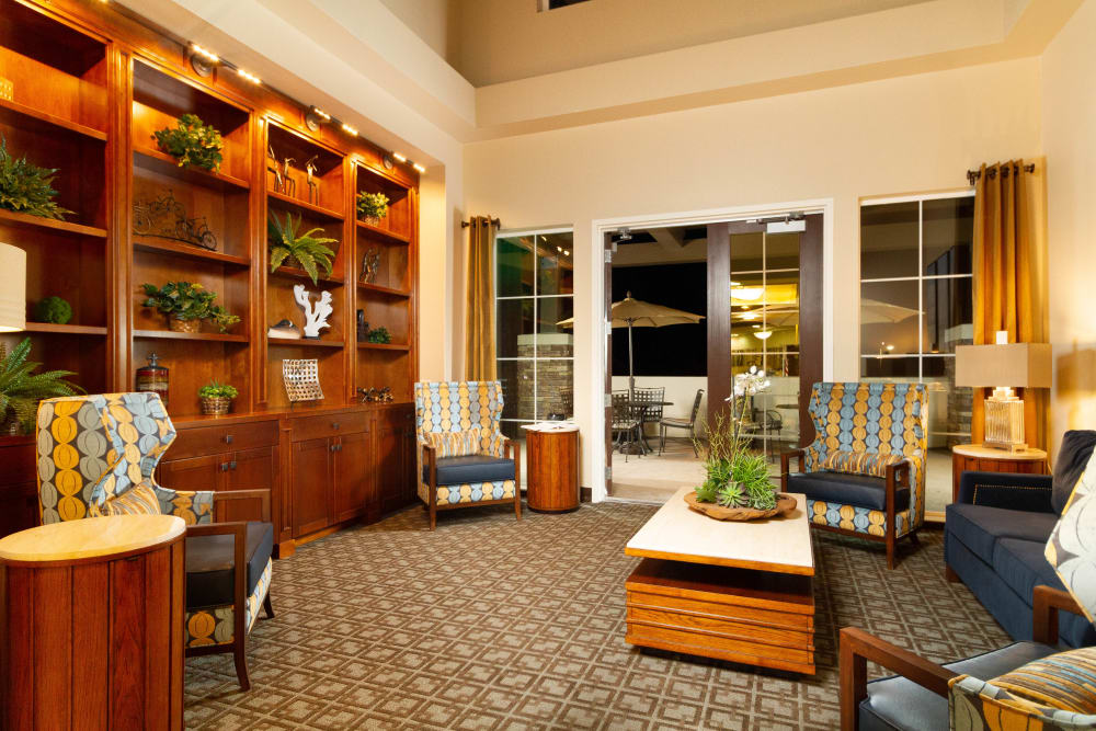 Living room at The Terraces in Chico, California