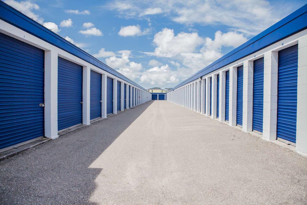 Drive up units at Office interior at Atlantic Self Storage facility in Atlantic Beach, FL