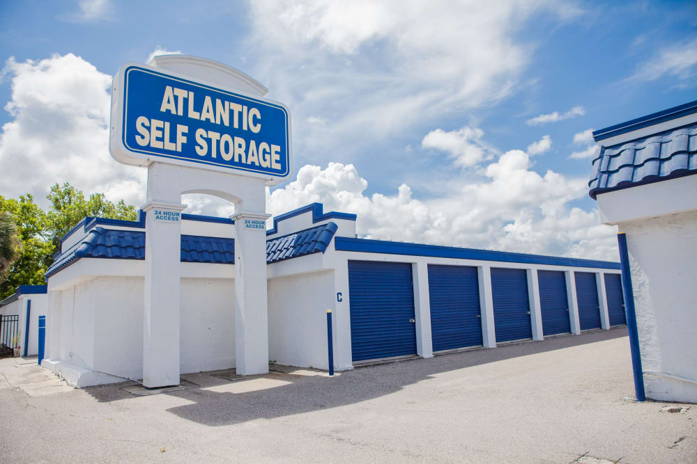 Drive up units at Office interior at Atlantic Self Storage facility in Atlantic Beach, FL