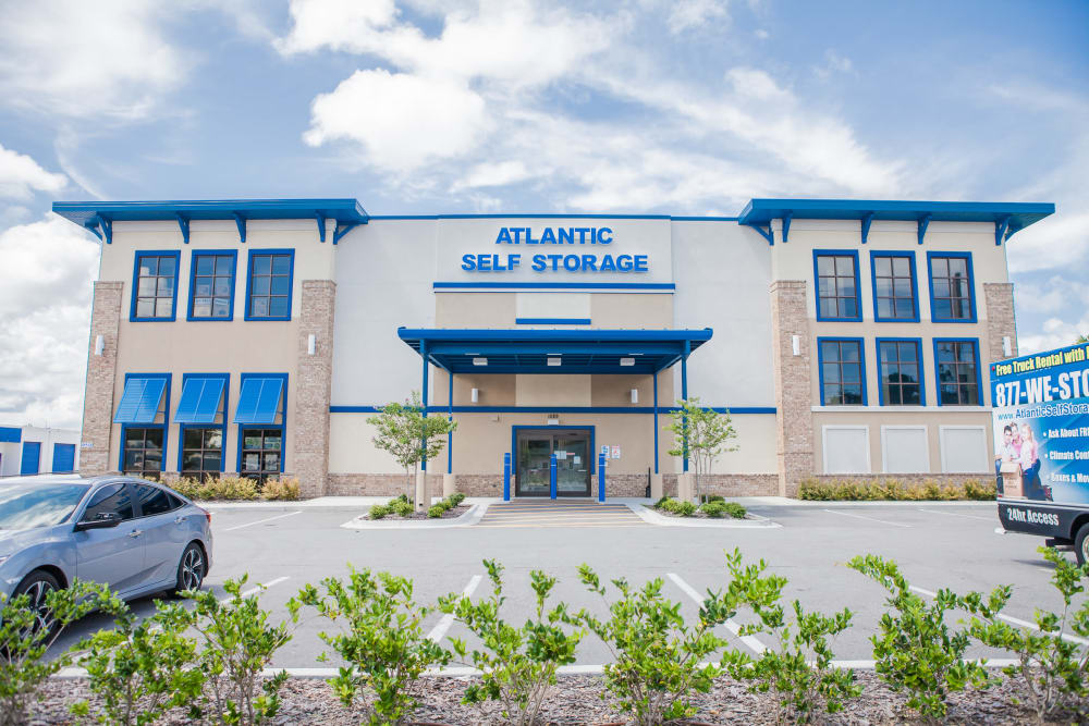 Building exterior at Atlantic Self Storage facility in Atlantic Beach, FL