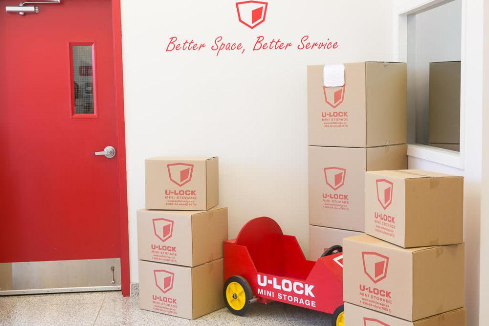 We offer packing supplies at U-Lock Mini Storage in Burnaby, British Columbia